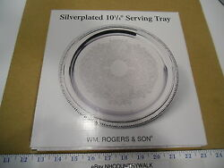 William Rogers And Son Silverplated 10 1/4 Serving Tray - Nos