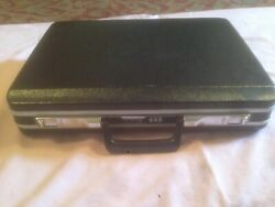 ECHOLAC Black Hard Shell Briefcase with Combination Lock - VINTAGE