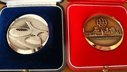 1976 Official Olympic Games Two Medals One Sterling Silver One Bronze With Coa