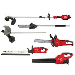Weed Hedge Trimmer Chain Saw Edger Electric Leaf Blower Cordless Kit Milwaukee