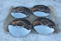 Moskvich New Vintage Old Model Chrome Hubcaps Wheel Covers Set Of 4 Pcs Rare