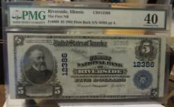 Highest Known Grade 5 1902 National Ch12386 Riverside Illinois Pmg Ef 40