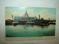 Crr Of Nj - Ferry House Of The C.r.r. Of N.j. Jersey City, N J Posted 1914