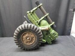 Vintage 1960's Deluxe Reading Mighty Mo Howitzer Cannon, Missing Barrel