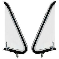 1953 1954 1955 Ford Truck Vent Window Assembly Clear Glass Pair Right+left Side