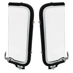 1956 Ford Pickup Truck Vent Window Assembly Clear Glass Pair Right+left Side