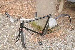 Vintage Raleigh Sports 3 Speed Bike Bicycle Frame England All Steel Frame Parts