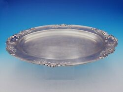 Francis I By Reed And Barton Sterling Silver Tray Oval 570a 18 5/8 3555