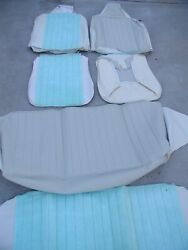 Nos 1970-72 Volkswagen Beetle Seat Covers, Front And Rear Off-white/lt.grey Vw Bug