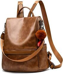 Women Backpack Purse PU Leather Anti theft Casual Shoulder Bag Fashion Ladies Sa $33.99