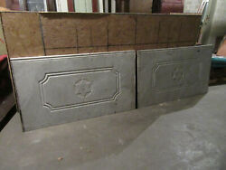 2 Pieces 10 + Feet Antique Carved Marble Paneling Wainscoting Star Of David