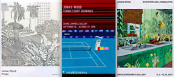 3 Jonas Wood Exhibition Poster Tennis Court Drawings Interiors Landscapes Prints