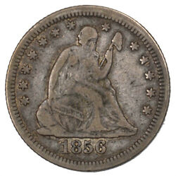1856-o Liberty Seated Silver Quarter New Orleans Minted 25c Original Vf