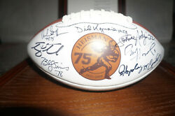 ONE OF A KIND HEISMAN FOOTBALL SIGNED 75TH ANNIVERSARY IN NICE CASE