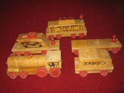 Cass Toys 1940s Wooden Pull Toy Mili-train Made In Usa