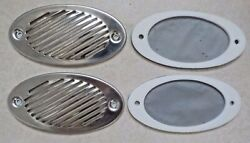Lot Of 2 New Stainless Louvre Air Vent Horn Grill Cover Ventilation Grill 5-1/2