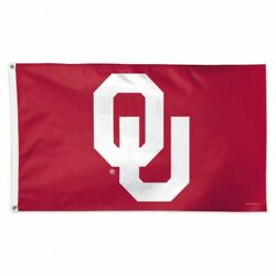 Oklahoma Sooners Ncaa 3 X 5 Deluxe Flag With Brass Grommets New In Package
