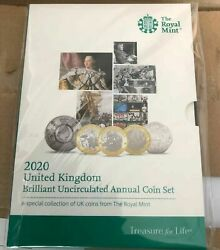 2020 Royal Mint 13 Coin Annual Set Brilliant Uncirculated And Sealed Team Gb 50p