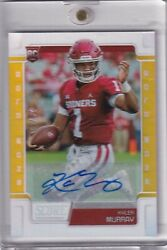 Kyler Murray 2019 Score Gold Zone Holo Parallel Rc Auto Ssp Ed 29/50