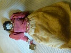 Antique German Porcelain China Doll Bisque Cloth Body 13 Inch Mkd