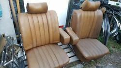 Mercedes W108 109 110 111 280se Front Seat Landr In Bamboo With Headrest And Armrest