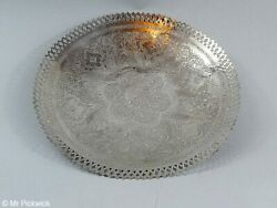 Silver Hand Made Peacock Plate
