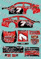 2015 1 64 HO PEEL amp; STICK DECALS #7 ALEX BOWMAN ACCELL CONSTRUCTION CHEVY