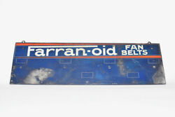 Farran-oid Fan Belts Display Antique Hanging Point Of Purchase Sign Farranoid