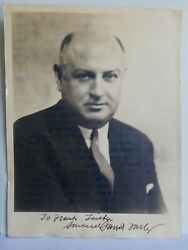 James Farley Signed Autographed Photo 8 X 10.5 Fdr Campaign Manager