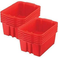 Really Good Stuff Stackable Plastic Book And Organizer Bins For Classroom Or Hom