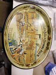 Vintage Anheuser Busch Brewing Co Beer Metal Serving Tray St Louis Mo