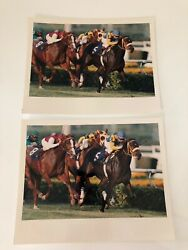8x10 Horse Racing Photograph Press Jockey Derby Race Picture