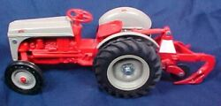 Ertl Ford 8n Farm Tractor With 3 Point Plow Orange Gray Paint Working Steering