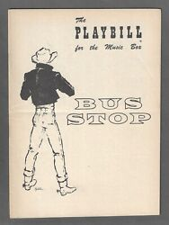 Kim Stanley Bus Stop Elaine Stritch / Anthony Ross 1955 Opening Night Playbill