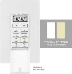 Honeywell White Ultrapro 24-hour Digital In-wall Timer Switch Door Cover 4 Pr