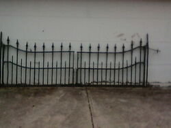 Antique Wrought Iron Gate Heavy Sturdy