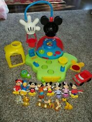 Rare Mickey Mouse Clubhouse Playset W Figures Car