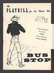 Tammy Grimes Debut Bus Stop Elaine Stritch / Anthony Ross 1955 Playbill