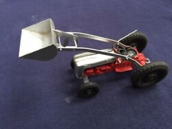 Tootsietoy Red/silver Ford Tractor And Scoop Farm Toy Mint In The Box