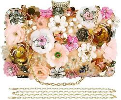 Selighting Colorful Flower Clutch Evening Bags for Women Formal Bridal Wedding C $43.99