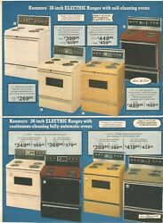 Vintage 1979 Sears Kenmore Gas Electric Range Stoves Catalog Print Ads Clippings