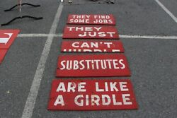 Old Burma Shave Signs Set..see My Other Porcelain Neon Sign Ford Chevrolet Olds