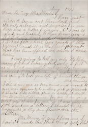 Important Battle Little Bighorn Letter Custer's Remains Were Brought Down East
