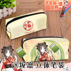 Anime Fate stay night とおさか りん PU Pencil case Phone Bag Coin Purse Cosmetic Big $23.99