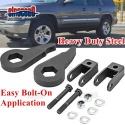 Front 3and039and039 Leveling Lift Kit + Shock Extender For Chevy Silverado Gmc Sierra 1500