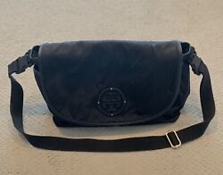 Tory Burch Black Messenger Diaper Bag With Changing Pad $125.00