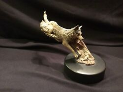 Rick Cain Limited Edition Leaping Wolf 1147/2000 Carved Wolf - Hand Signed New