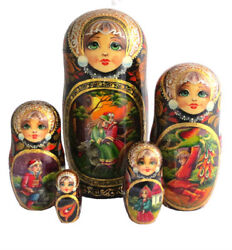 Russian Nesting Dolls Stacking Small Painted By Strogonova - Fairytale Popular