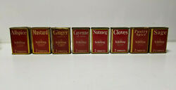 Vintage Spice Tin Schilling And Co Lot Sage Cloves Pastry Spice Mustard Cayenne