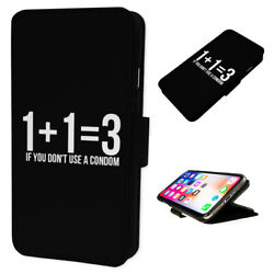 Funny Baby Math Joke - Flip Phone Case Wallet Cover Fits Iphone And Samsung